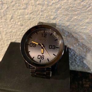 Nixon corporal 48MM gunmetal watch